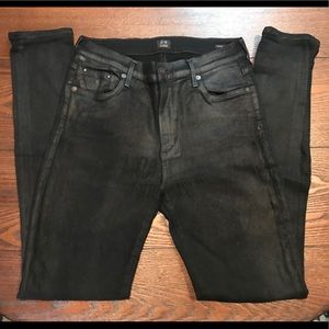 Black Citizens of Humanity High Rise Skinny Jeans